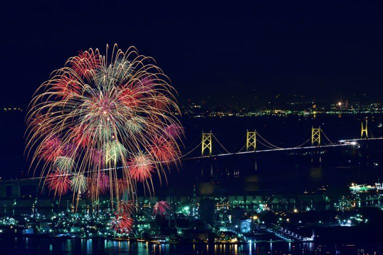 さかいで大橋まつり海上花火大会